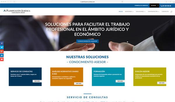 web Planificación Jurídica 2018