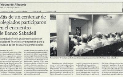 Banco Sabadell congrega a más de un centenar de colegiados