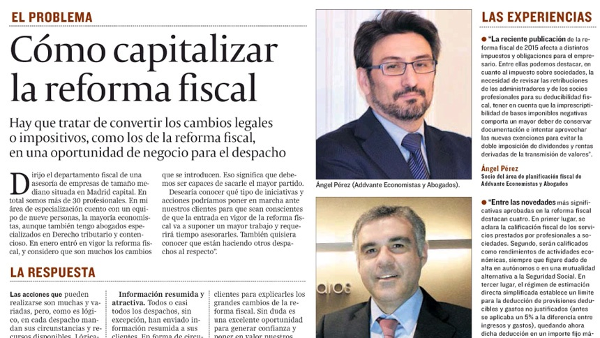 Cómo capitalizar la reforma fiscal