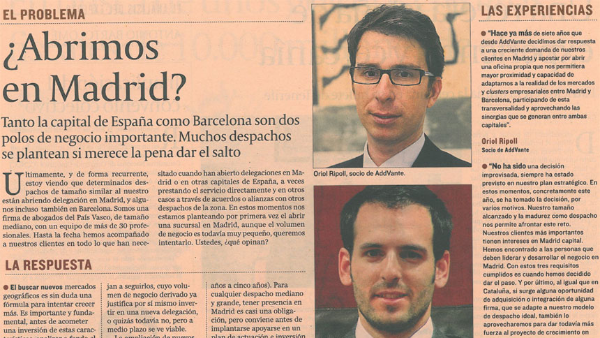 ¿Abrimos en Madrid?