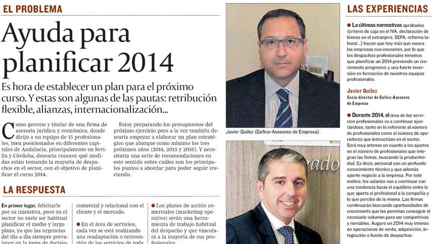 Ayuda para planificar 2014