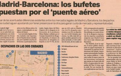 """Madrid-Barcelona: los bufetes apuestan por el """"puente aéreo"""""""